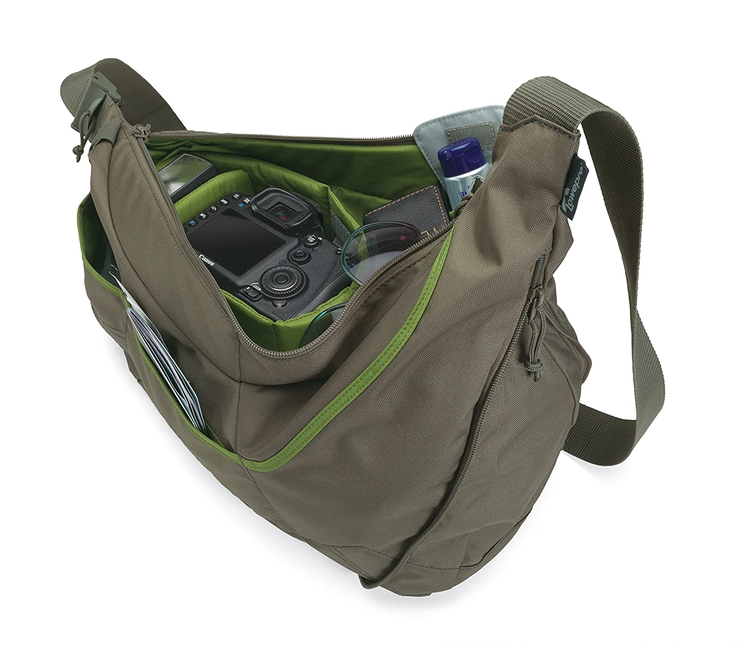 Amazon.com : Lowepro Passport Sling II Camera Bag for DSLR or ...