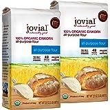 Jovial Einkorn Baking Flour   100% Organic Einkorn All Purpose Flour   High Protein   Non-GMO   USDA Certified Organic   Deli
