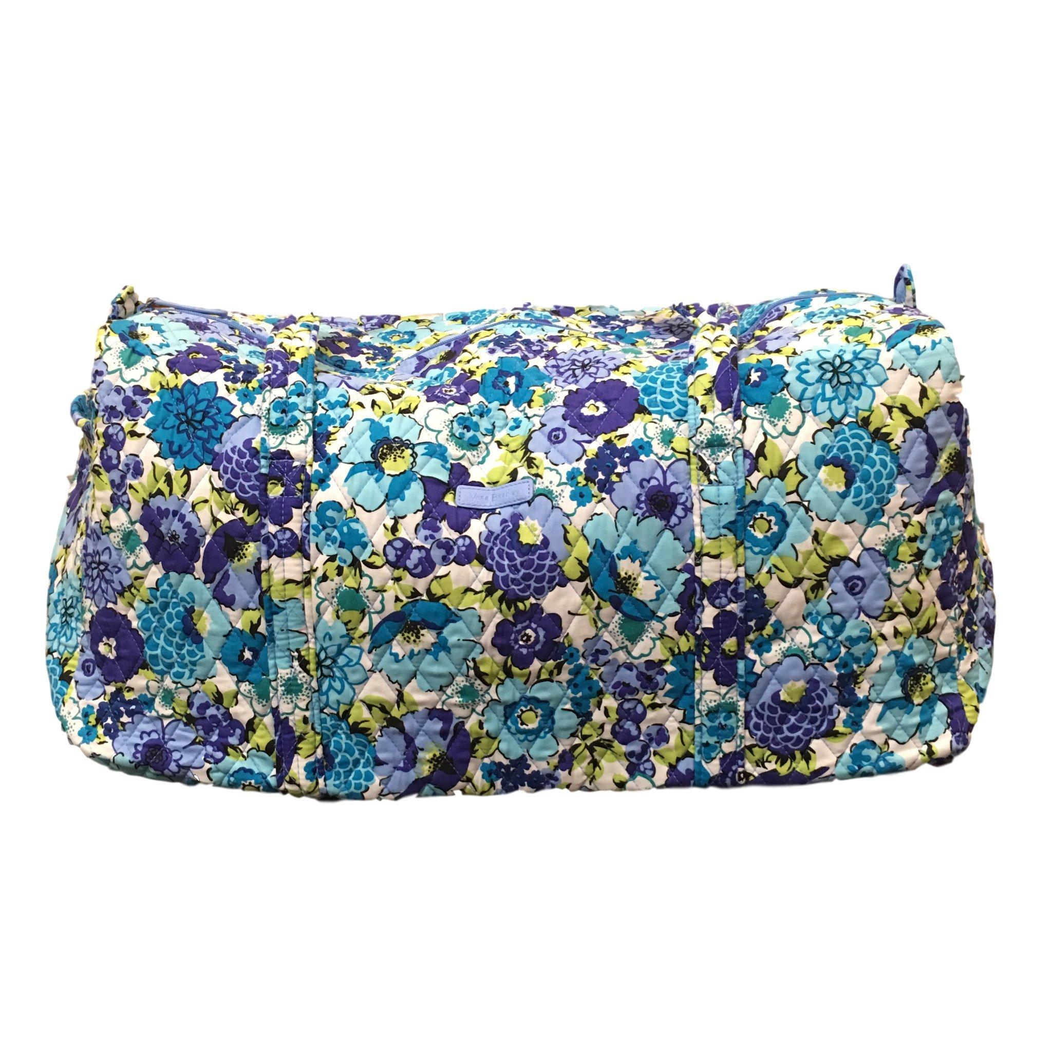 Vera Bradley Large Duffel Bag (Blueberry Blooms)