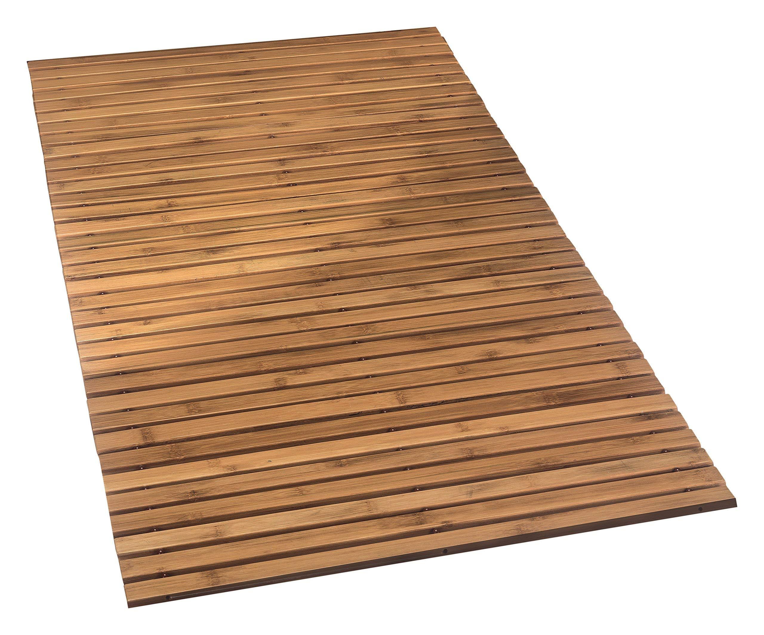 Kleine Wolke Level Wooden Mat, Nature, 60 x 115 cm
