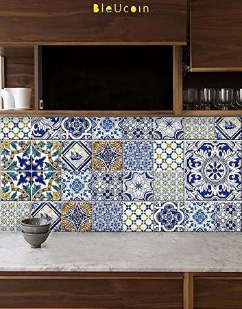 Portugiesische Fliesen-Aufkleber für Küche Badezimmer Backsplash ...