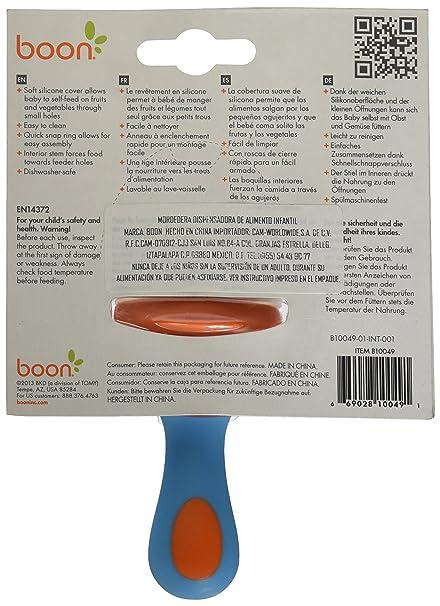 Boon Pulp - Alimentador de silicona, color naranja/azul ...