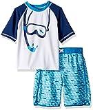 iXtreme Toddler Boys' Fish Rash Guard Set, Blue, 4T