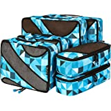 Amazon Brand: Eono Essentials 6 Set Packing Cubes,3 Various Sizes Travel Luggage Packing Organizers Geomtry