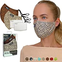 BEOLA Washable Fashion Face Mask Non Medical Reusable With Filter Reusable (Beatrice 2 pcs No Valve)