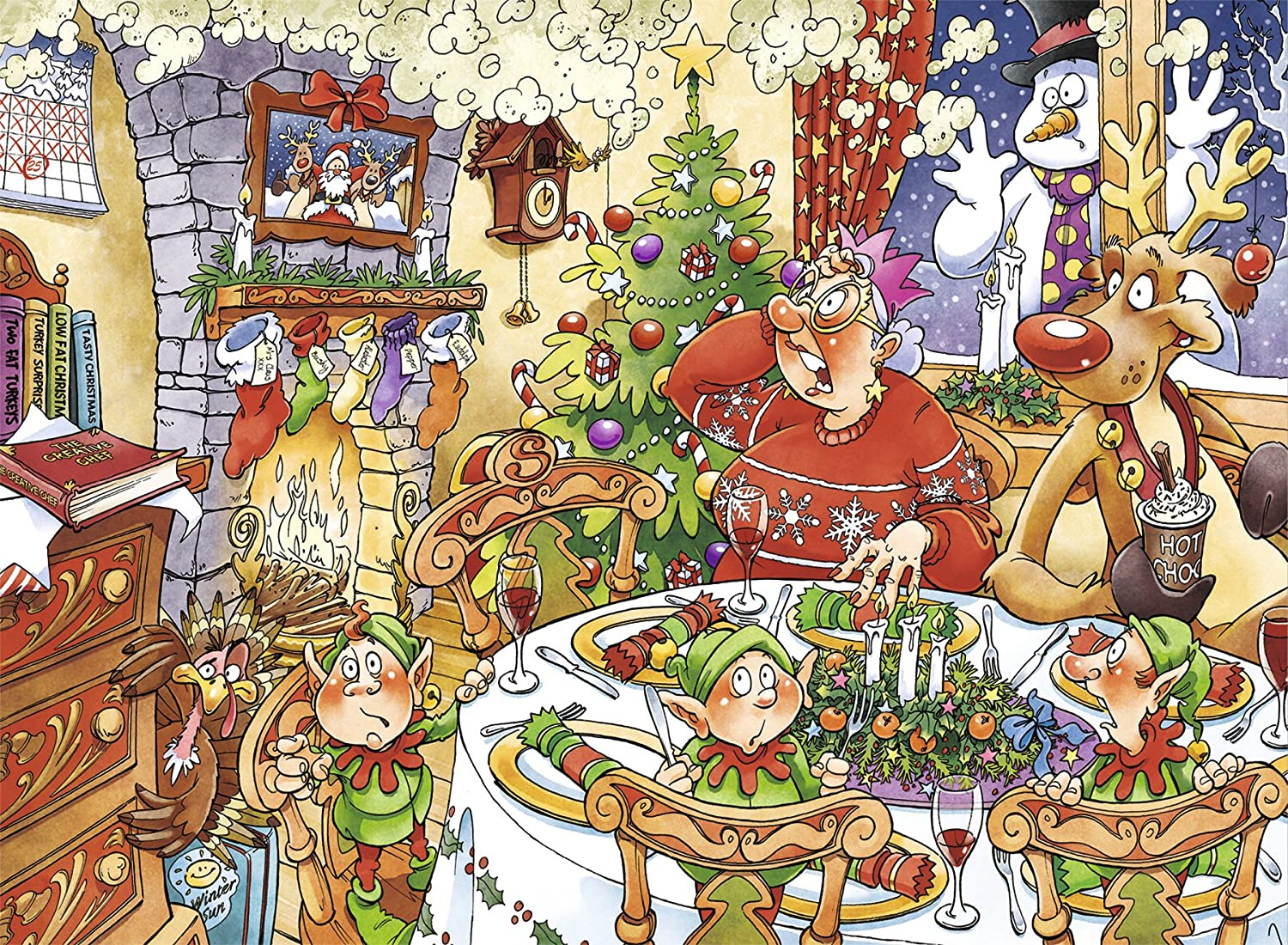Jumbo - Wasgij Christmas 13 Turkish Delight International Item Puzzle de 1000 Piezas (619149.0): Amazon.es: Juguetes y juegos