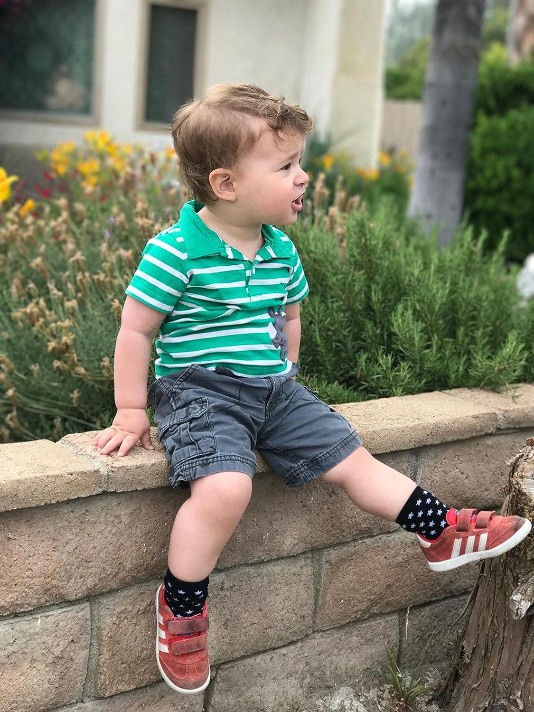 Tiny Captain Calcetines Para Beb/é Ni/ños 1-3 A/ños Mejor Conjunto de 6 Pares Set De Regalo Para Antideslizantes Calcetin Para Primer Cumplea/ños