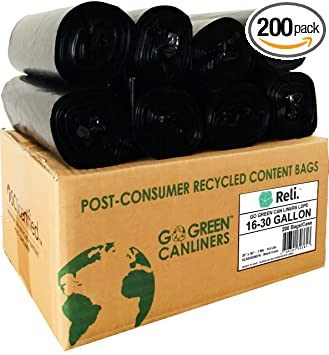 Amazon.com: Reli. Go Green Trash Bags, 16 – 30 galones (al ...