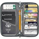 Jollyfit RFID Blocking Anti-Theft Hidden Neck Pouch Security Zipper Travel Wallet Passport Holder for Men & Women