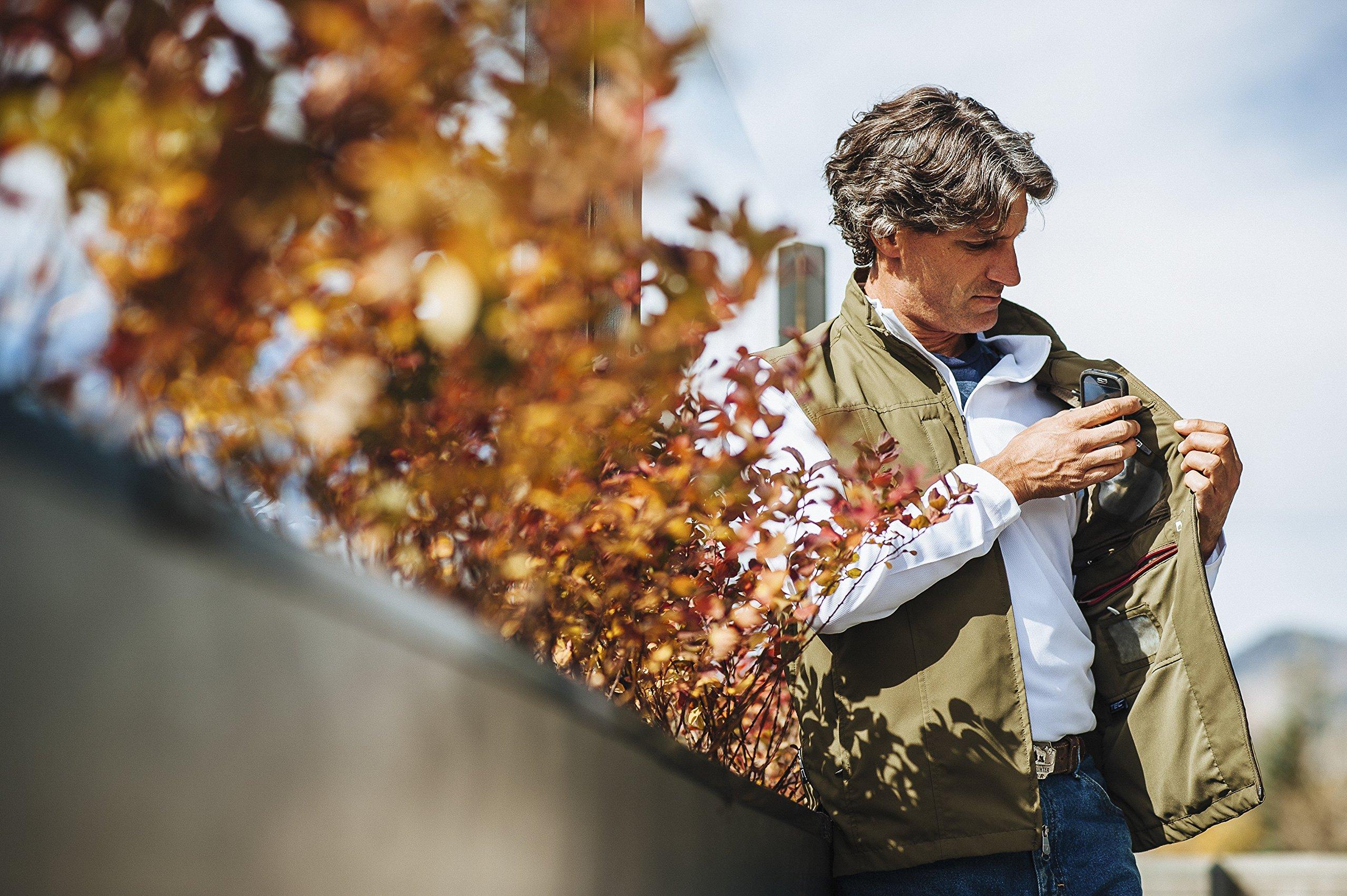 SCOTTeVEST Men's RFID Travel Vest - 26 Pockets – Travel Clothing Blk XXXL by SCOTTeVEST (Image #5)