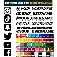 VulgrCo Custom Social Media Decal Stickers Customized Name Username Logo Brand Vinyl