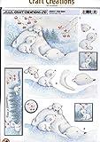 Craft Creations–dcd517Polar Bears die-cut 3d–Step by Step, formato A4, 210x 297mm