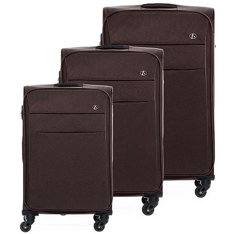 FERGÉ® Set di 3 valigie viaggio Calais - leggero bagaglio da 3 morbido tre  pz 93fd086d7ef