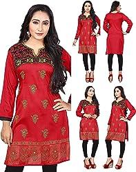 Women Fashion Casual Indian Short Kurti Tunic Kurta Top Shirt Dress ECCO09