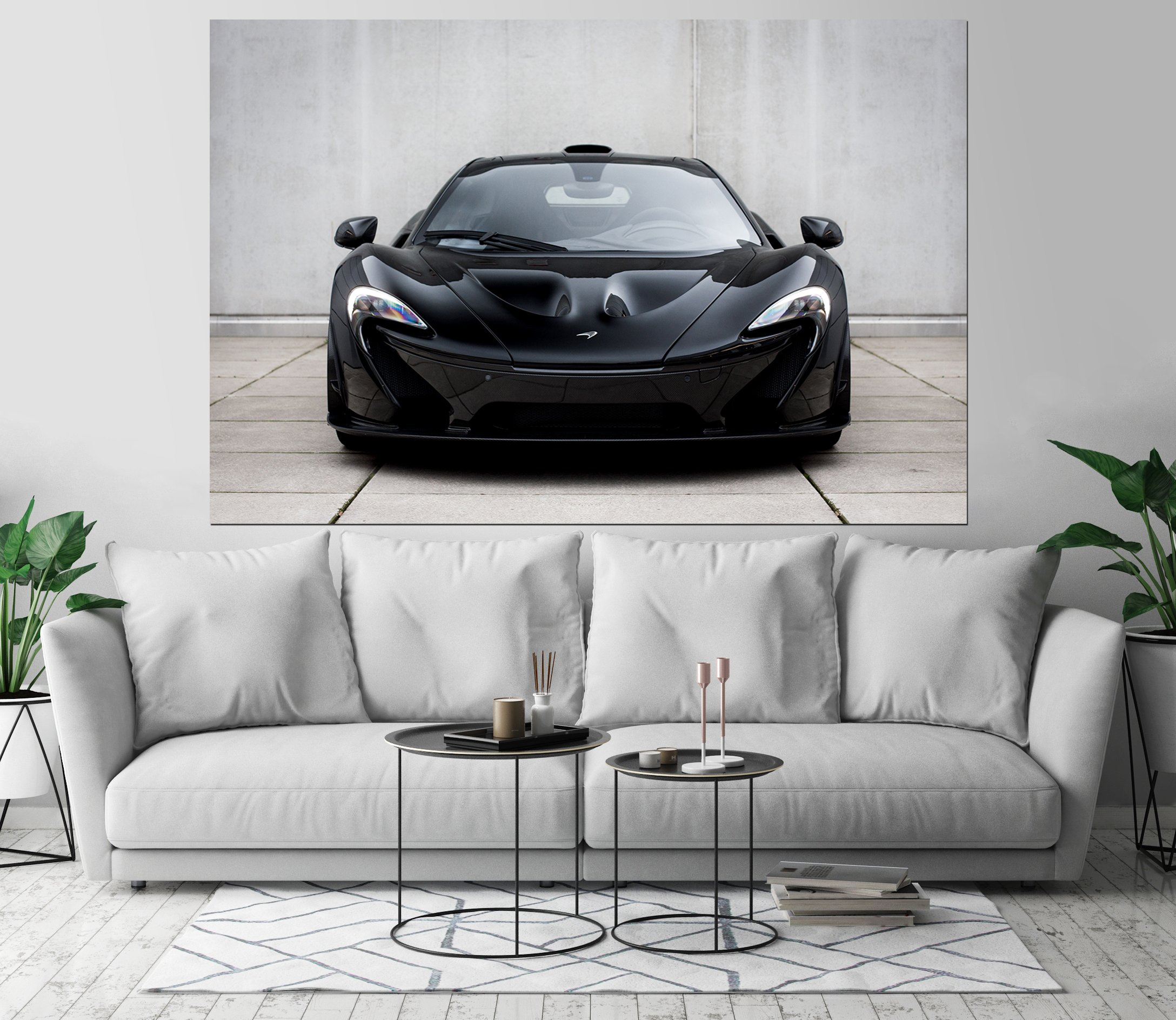 McLaren P1 Luxury Automobile Car Art Print Wall Decor Image Self-Adhesive - Wallpaper Sticker 48 x 72-3XL