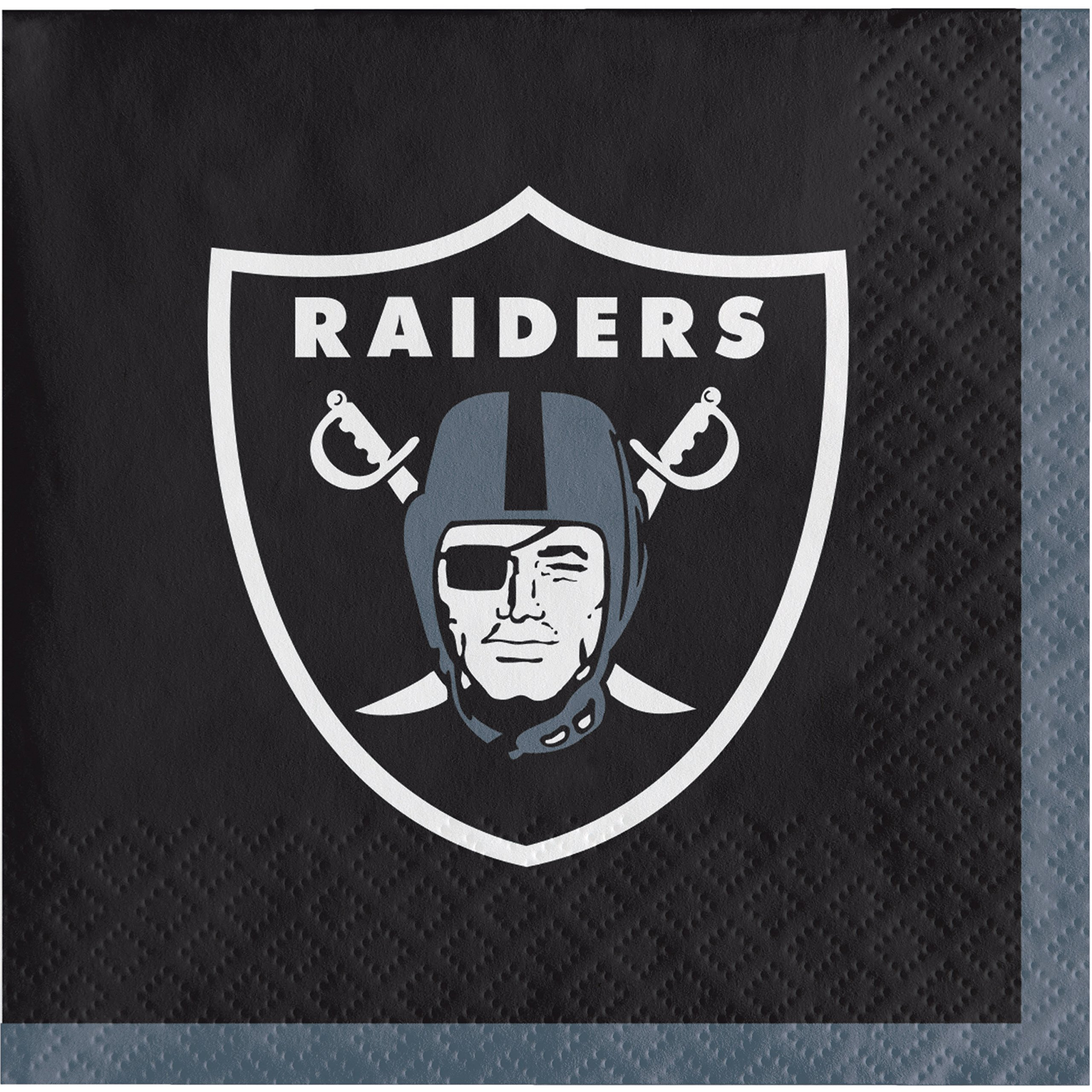 Oakland Raiders Beverage Napkins, 48 Count