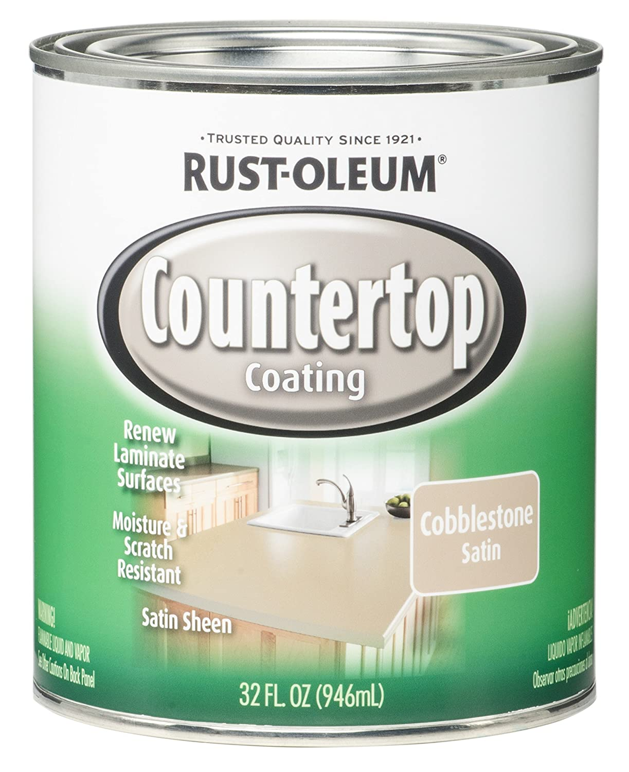 Rust-Oleum 263206 Countertop Coating Premix, 32-Ounce Kit ...