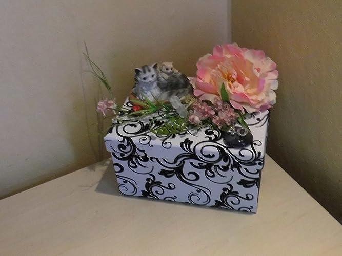 Geldgeschenk 40 Geburtstag Katzen Geschenkbox Amazon De Handmade
