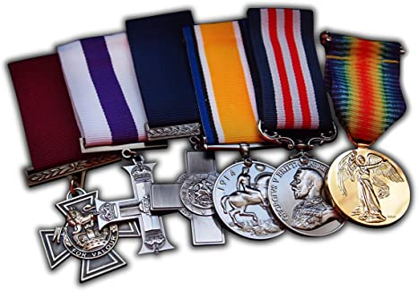 British Top Medalla Militar Grupo Set 6 x premios para   RAF   Azul Marino  