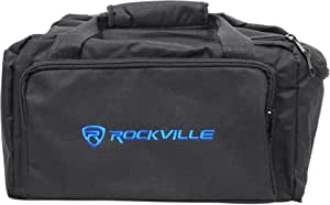 Rockville RLB80 Universal Travel Bag Fits 4x Slim Par Lights+Controller+Cables