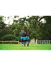 Horseware Amigo Mio Turnout Lite ohne Füllung Regendecke Black & Turquoise 115-160
