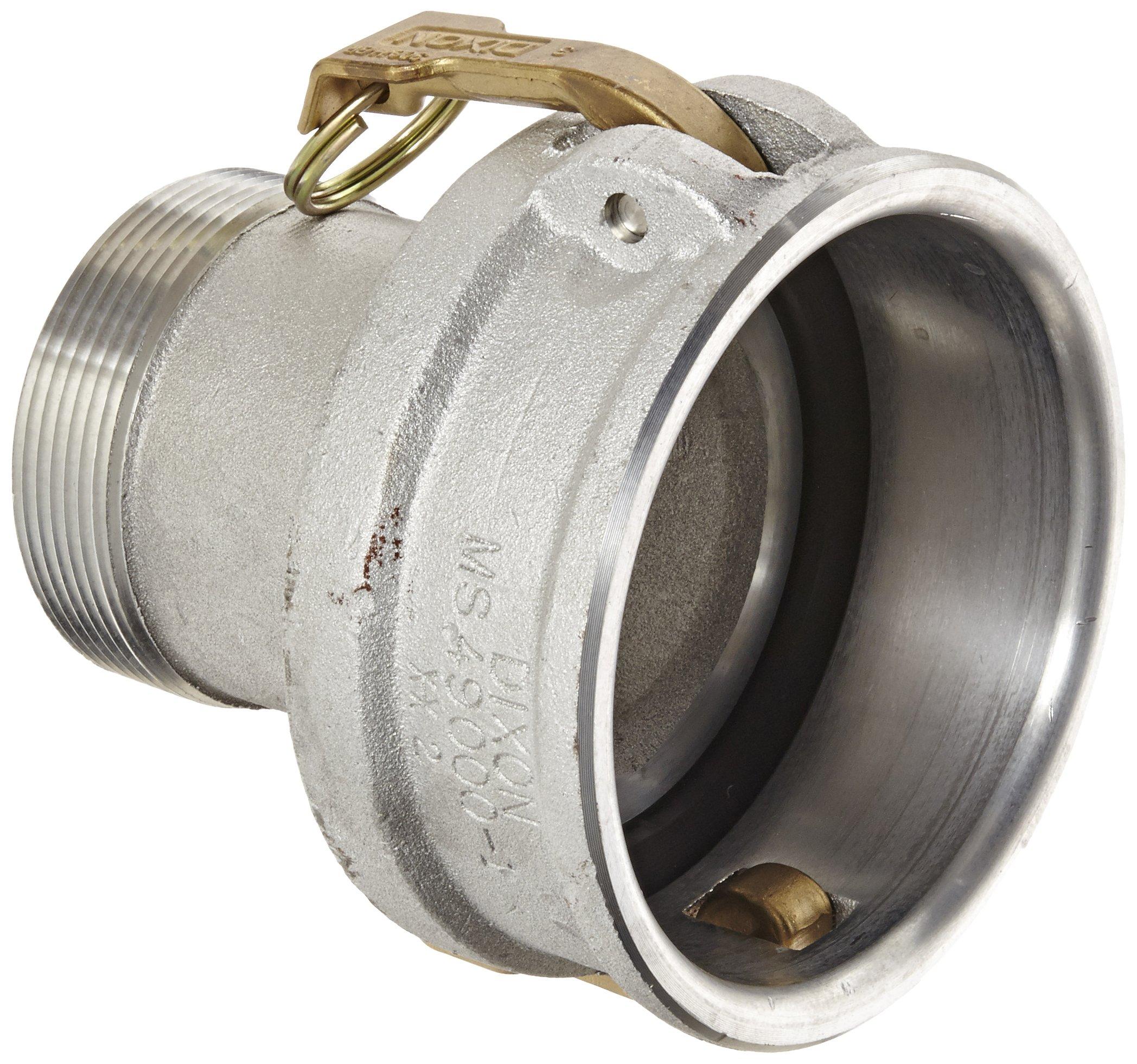 Dixon 4030-B-AL Aluminum Type B Cam and Groove Reducing Hose Fitting, 4'' Socket x 3'' NPT Male