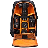 Camera Backpack Waterproof by G-raphy for DSLR /SLR Cameras (Canon , Nikon , Sony and etc ) , 17'' Laptops , Tripods , Flashes, Lenses and Accessories