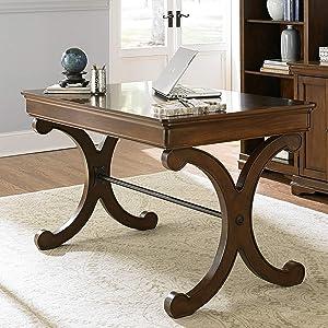 Liberty Furniture Industries Brookview Writing Desk, W54 x D30 x H31, Cherry