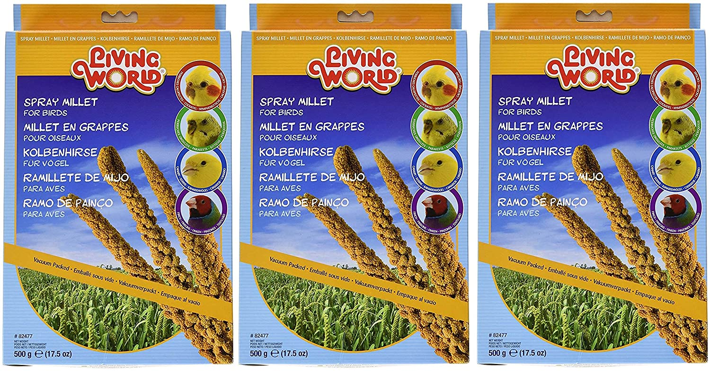 Living World 82475 Spray Millet for Birds-100gm, 3.5-Ounce