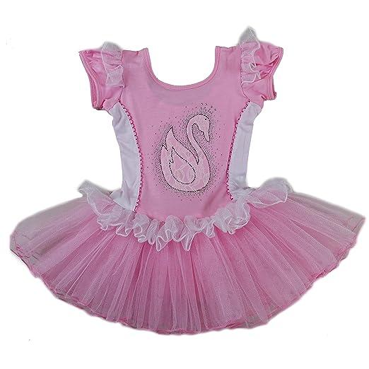 256680486 Amazon.com  Wenchoice Pink   White Swan Ballet Dress Girls  Clothing