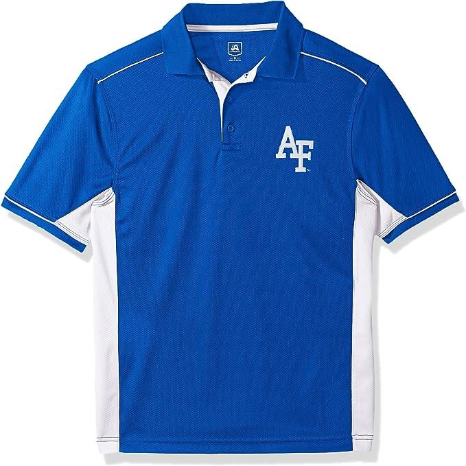 XX-Large Black J America NCAA Mens Iowa Hawkeyes Yarn Dye Striped Team Polo Shirt