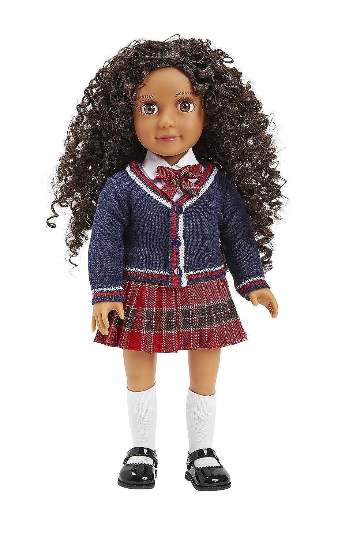 Race m/élang/ée avec Cheveux boucl/és Plus /étui de Transport Darcy Curl Doll
