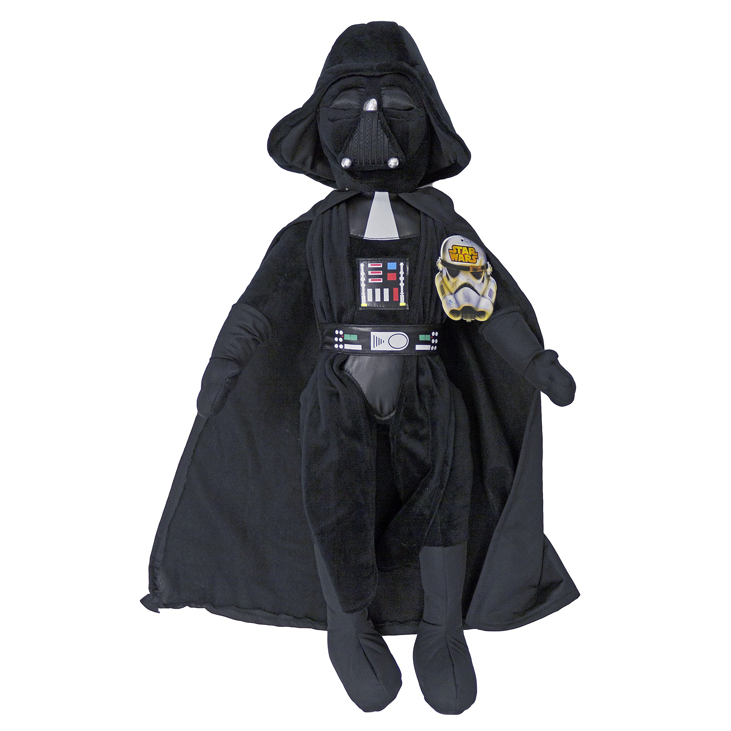 5 Piece Kids Black Star Wars Theme Comforter Twin, Starwars Millennium Falcon R2-D2 C-3PO Bedding, Light Saber Death Star Darth Vader Luke Skywalker Yoda Movie Series Character Plush, Polyester