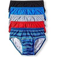 Jockey Life 5-Pack Men's 24/7 Comfort Cotton Low-Rise Briefs - Assorted