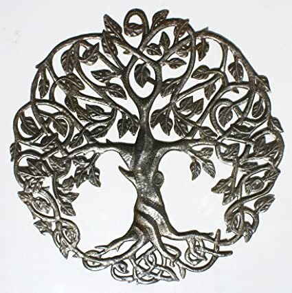 Tree Of Life Wall Art Tree Outdoor Wall Hanging Decor Decorating The Home Handmade In Haiti 60cm