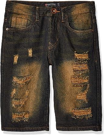 Southpole Boys Big Ripped Denim Shorts