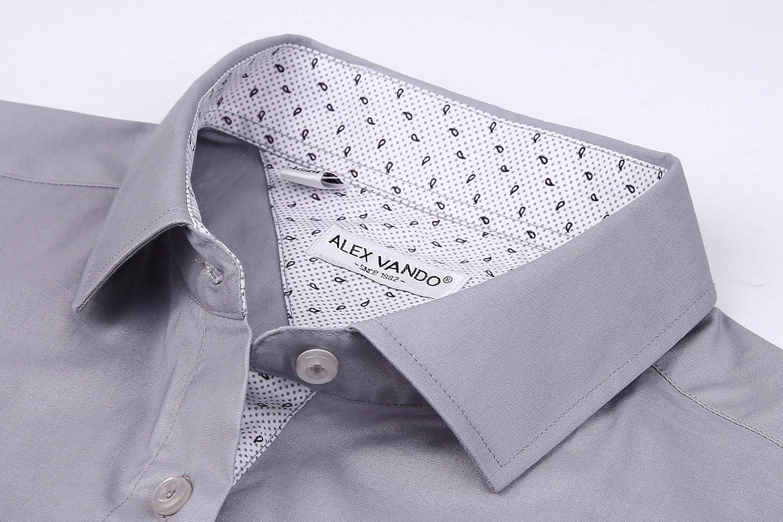 Joey CV Mens Short Sleeve Dress Shirts Cotton Regular Fit Casual Button Down Shirt