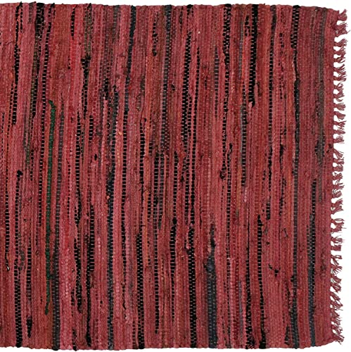Sturbridge Country Rag Rug in Red 48 x 72