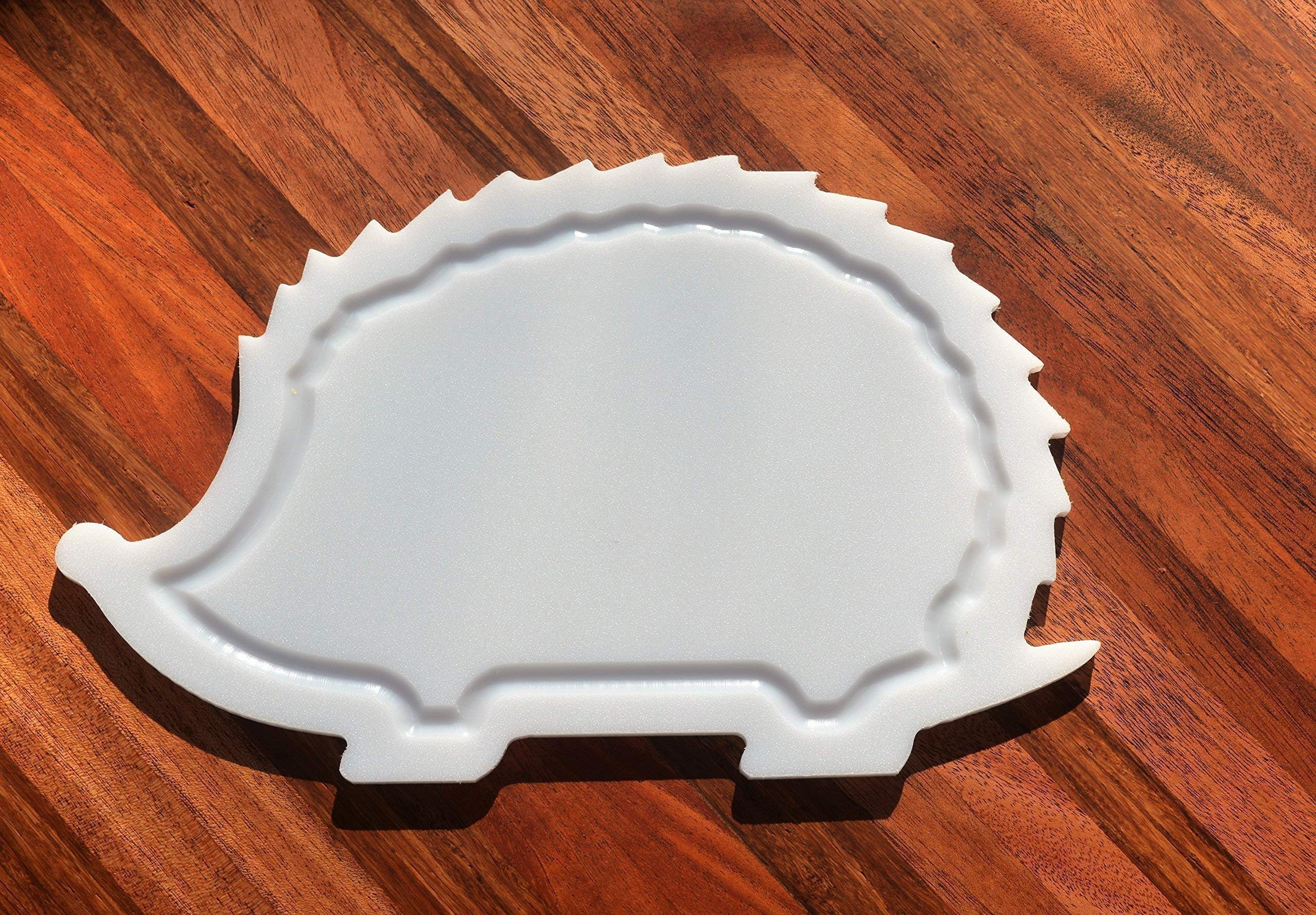 NEW HIGH QUALITY - Hedgehog Shaped White Plastic HDPE Cutting Board 11x7 Animal Lovers Dishwasher Safe FREE FAST SHIPPING! by With the Grain Woodworks (Image #1)