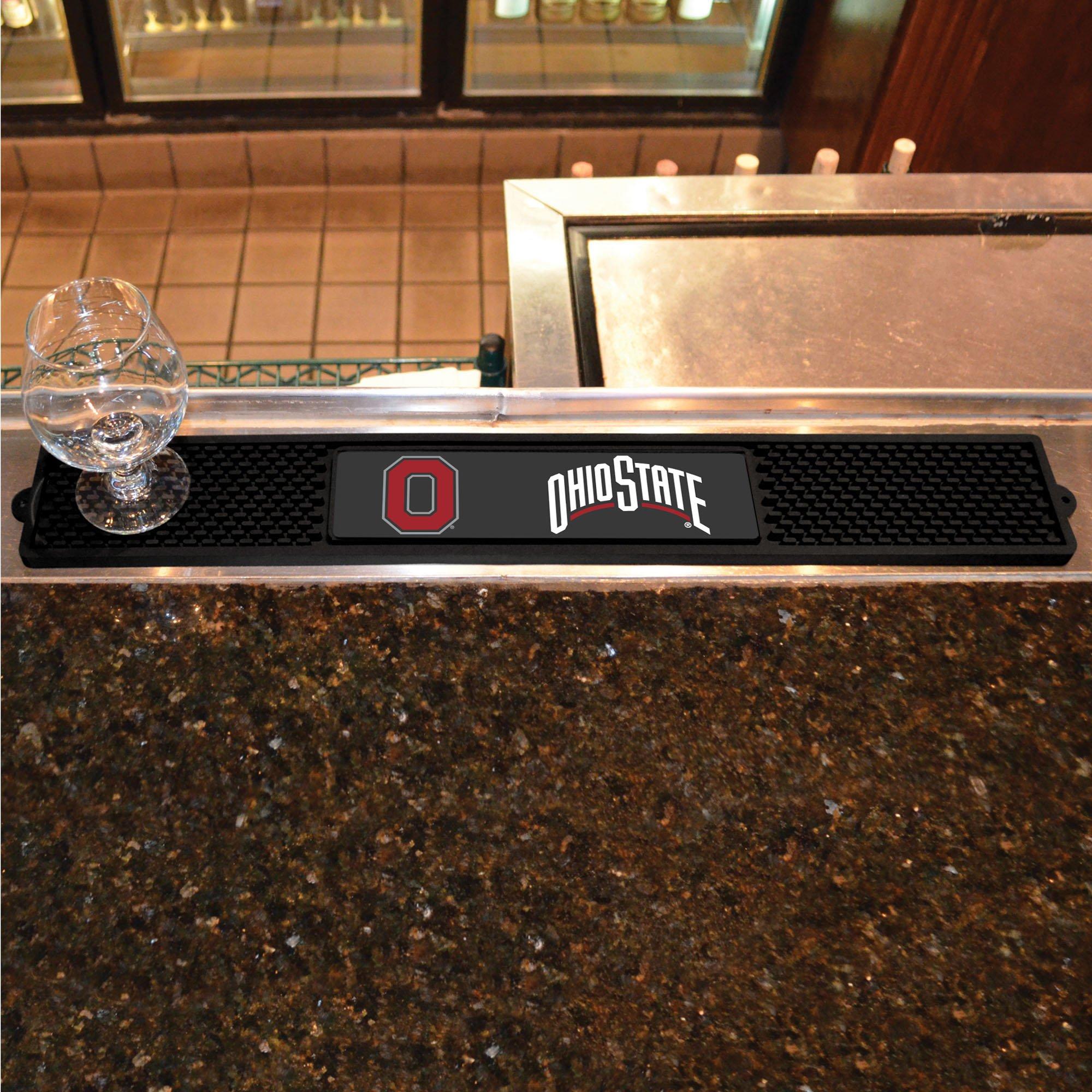 FANMATS NCAA Ohio State University Buckeyes Vinyl Drink Mat