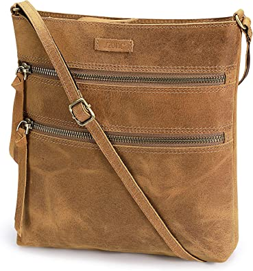 S-ZONE Small Genuine Leather Handbags for Women Shoulder Bag Crossbody Purse