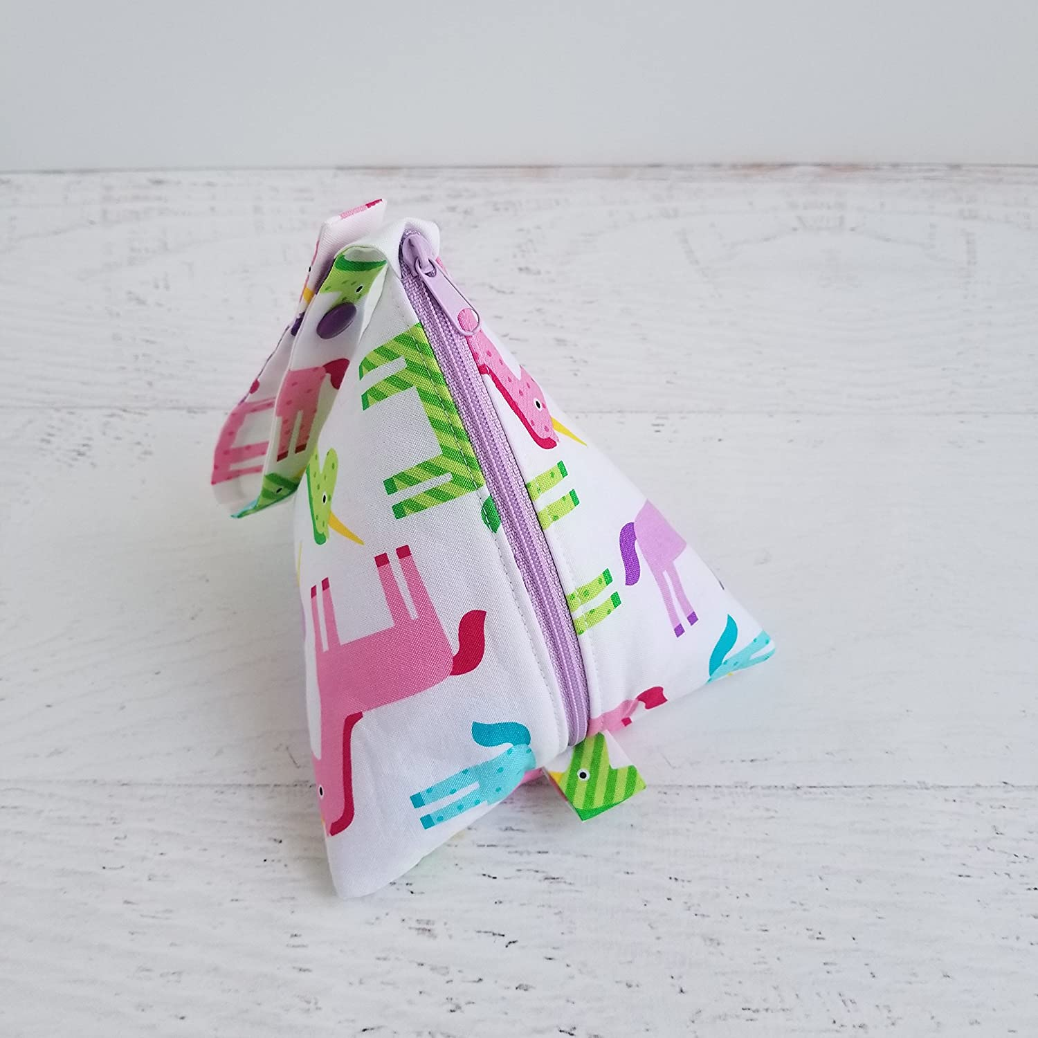 Unicorn Pacifier Clip Girl Soothie Strap Pocket