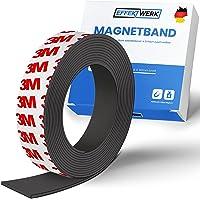 EFFEKTWERK Magneetband - 3 m - zelfklevende magneetband - magneetstrip zelfklevend - zelfklevend - hechtend op metalen…