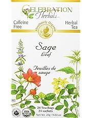 Celebration Herbals Sage Leaf Tea Organic 24 Tea Bag, 24Gm