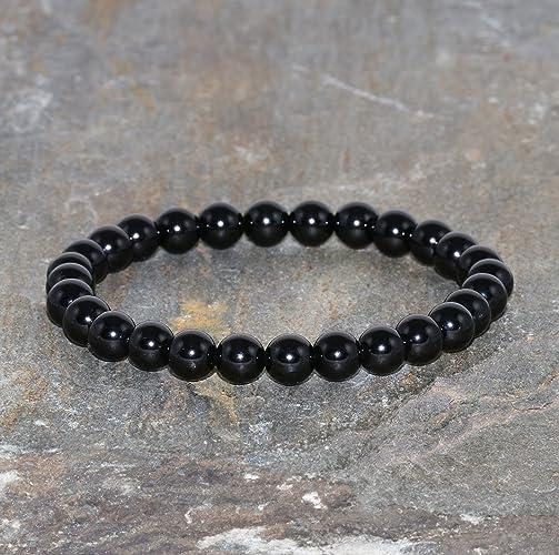 Amazon.com: 6mm Black Spinel Bracelet, Black Spinel Stacking ...