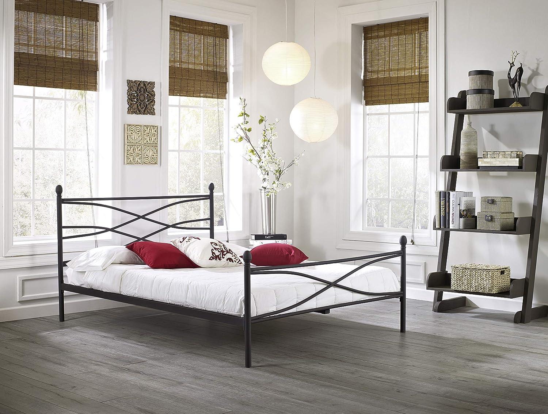 Boyd Sleep Renee Metal Platform Bed Frame Mattress Foundation with Headboard and Footboard, Full