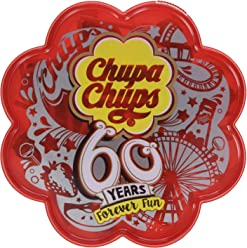 Chupa Chups Best Of  60 Minis Sucettes  Boîte Collector 60 Ans 360 g - Lot de 3