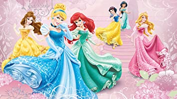 Disney Princesses Pink Castle Wallpaper Mural By Consalnet