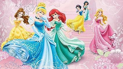 Consalnet Disney Princesses Pink Castle Wallpaper Mural Amazon Co