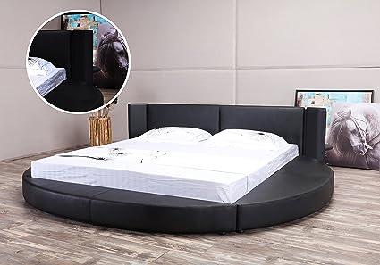 Amazon Com Matisse Oslo X Round Bed King Size Black Kitchen